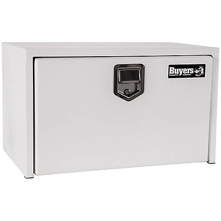 Buyers Products 18 in. x 18 in. x 30 in. White Steel Underbody Truck Box with Paddle Latch