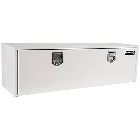Buyers Products 18 in. x 18 in. x 60 in. White Steel Underbody Truck Box with 2 Paddle Latches