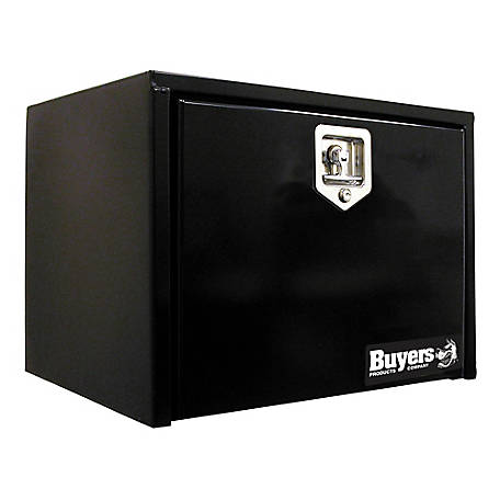 Buyers Products 18 in. x 18 in. x 24 in. Black Steel Underbody Truck Box