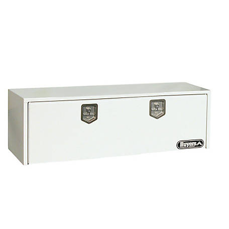 Buyers Products 18 in. x 18 in. x 60 in. White Steel Underbody Truck Box