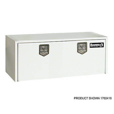 Buyers Products 18 in. x 18 in. x 66 in. White Steel Underbody Truck Box