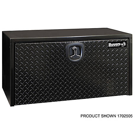 Buyers Products 18 in. x 18 in. x 36 in. Black Steel Underbody Truck Box with Aluminum Door