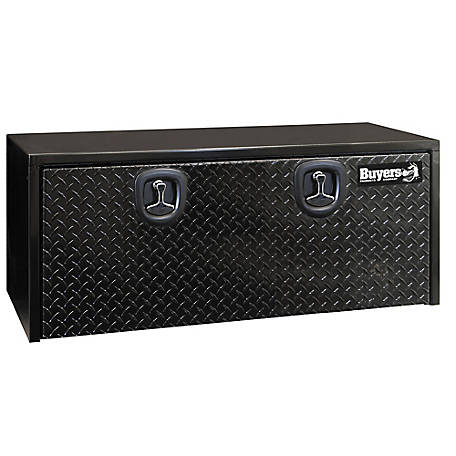 Buyers Products 18 in. x 18 in. x 48 in. Black Steel Underbody Truck Box with Aluminum Door