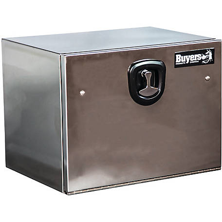 Buyers Products 18 in. x 18 in. x 36 Stainless Steel Truck Box with Stainless Steel Door, Highly Polished
