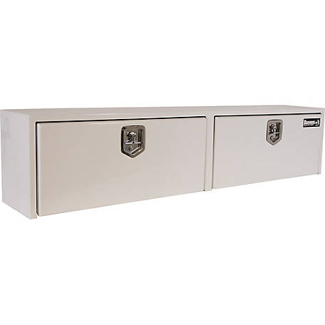 Buyers Products 16 in. x 13 in. x 88 in. White Steel Topsider Truck Box