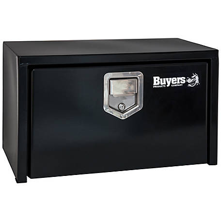 Buyers Products 14 in. x 12 in. x 24 in. Black Steel Underbody Truck Box with Paddle Latch