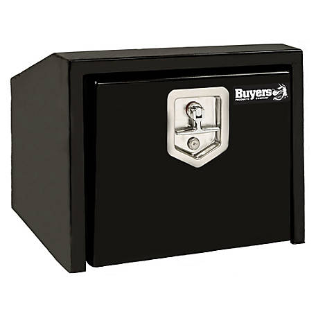 Buyers Products 14 in. x 12 in. x 24 in. Black Steel Underbody Truck Box