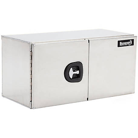 Buyers Products 24 in. x 24 in. x 60 in. Smooth Aluminum Underbody Truck Box with Barn Door