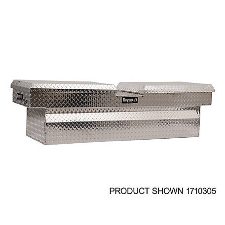 Buyers Products 18 in. x 20 in. x 71 in. Diamond Tread Aluminum Gull Wing Truck Box, Lower Half 11 in. x 20 in. x 60 in.
