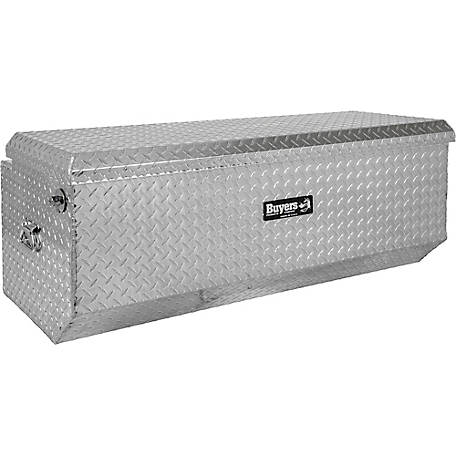 Buyers Products 54 in. Diamond Tread Aluminum All-Purpose Chest with Angled Base