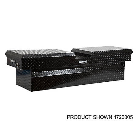 Buyers Products 23 in. x 20 in. x 71 in. Black Diamond Tread Aluminum Gull Wing Truck Box, Lower Half 16 in. x 20 in. x 60 in.
