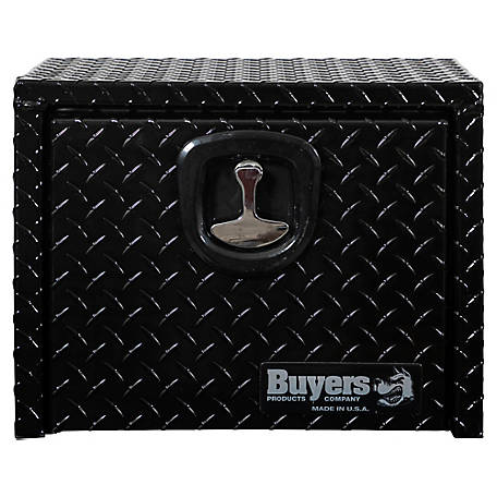 Buyers Products 18 in. x 18 in. x 24 in. Black Diamond Tread Aluminum Underbody Truck Box