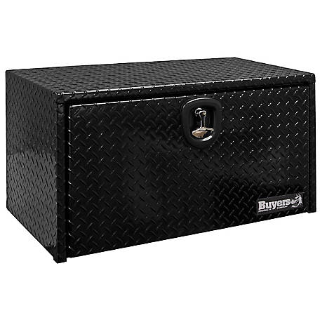 Buyers Products 14 in. x 12 in. x 30 in. Black Diamond Tread Aluminum Underbody Truck Box