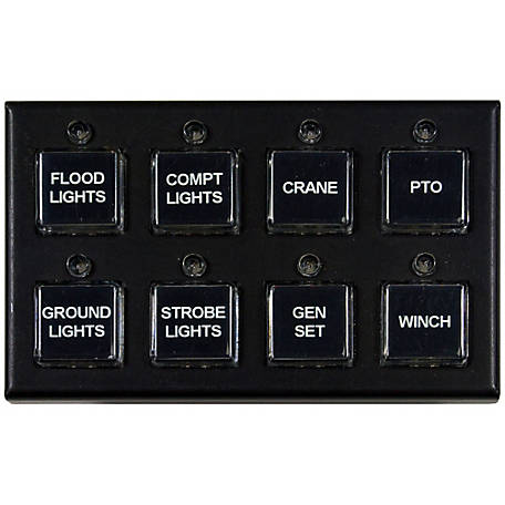Buyers Products Pre-Wired 8-Function Panel Switch