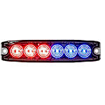 Buyers Products 5.14 in. Red/Blue Surface Mount Ultra-Thin LED Strobe Light