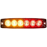 Buyers Products 5.14 in. Amber/Red Surface Mount Ultra-Thin LED Strobe Light
