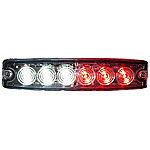 Buyers Products 5.14 in. Clear/Red Surface Mount Ultra-Thin LED Strobe Light