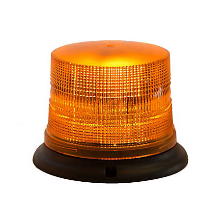 Buyers Products Amber 3 LED Beacon Light 6.75 in. Diameter x 5 in. Tall
