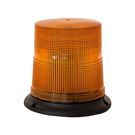 Buyers Products Amber 3 LED Beacon Light with Tall Lens 6.75 in. Diameter x 6.75 in. Tall