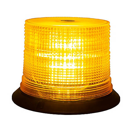 Buyers Products Amber 6 LED Beacon Light, 6.75 in. Diameter x 5 in. Tall