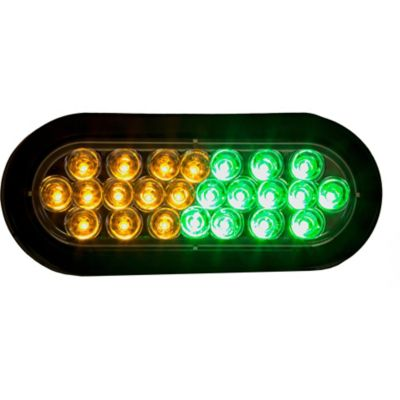 Buy Buyers Products 6 in. Amber/Green Oval Recessed Strobe Warning Light Online
