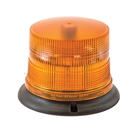 Buyers Products Amber 8 LED Beacon Light, 6.625 in. Diameter x 4.875 in. Tall