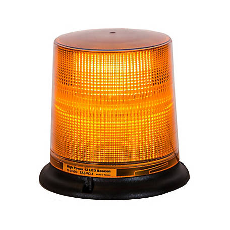 Buyers Products Amber 12 LED Beacon Light with Tall Lens 6.75 in. Diameter x 6.625 in. Tall