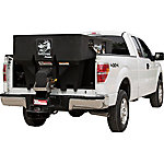 SaltDogg 1.0 cu. yd. Electric Black Poly Hopper Spreader, Extended Chute