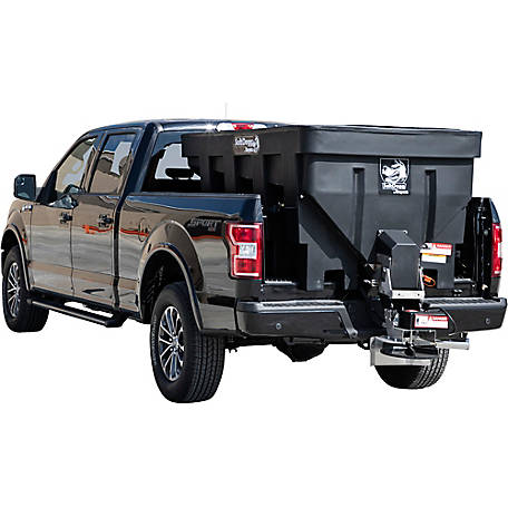 SaltDogg 1.5 cu. yd. Electric Black Poly Hopper Spreader