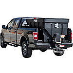 SaltDogg 1.5 cu. yd. Electric Black Poly Hopper Spreader, Extended Chute