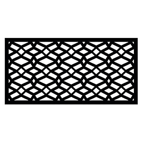 Freedom Decorative Screen Panel, 2 ft. x 4 ft., Celtic Black, 73004781