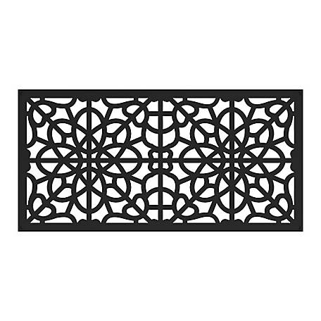 Freedom Decorative Screen Panel, 2 ft. x 4 ft., Fretwork Black, 73004786