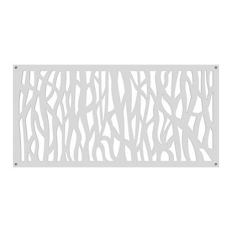 Freedom Decorative Screen Panel, 2 ft. x 4 ft., Sprig White, 73004790