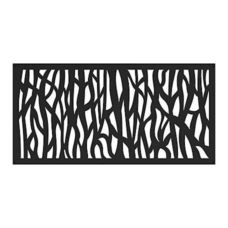 Freedom Decorative Screen Panel, 2 ft. x 4 ft., Sprig Black, 73004791