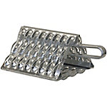 Buyers Products Galvanized Serrated Wheel Chock with Handle, 9 in. x 10 in. x 6 in.