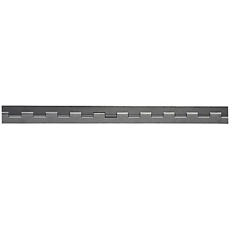Buyers Products Steel Continuous Hinge, .187 x 72 in. Long with 1/2 Pin and 4.0 Open Width