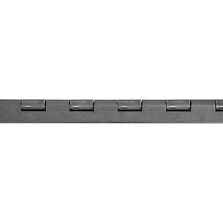 Buyers Products Steel Continuous Hinge, .187 x 72 in. Long with 1/2 Pin and 6.0 Open Width