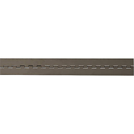 Buyers Products Stainless Continuous Hinge, .120 x 72 in. Long with 3/8 Pin and 4.0 Open Width