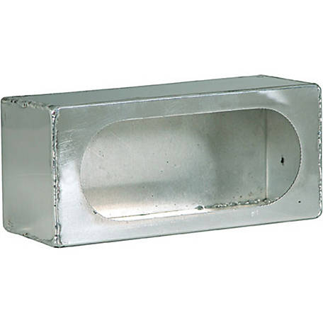 Buyers Products Single Oval Light Box Stainless Steel