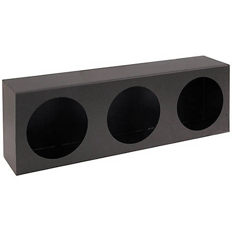Buyers Products Triple Round Light Box, Black Powder-Coated Steel