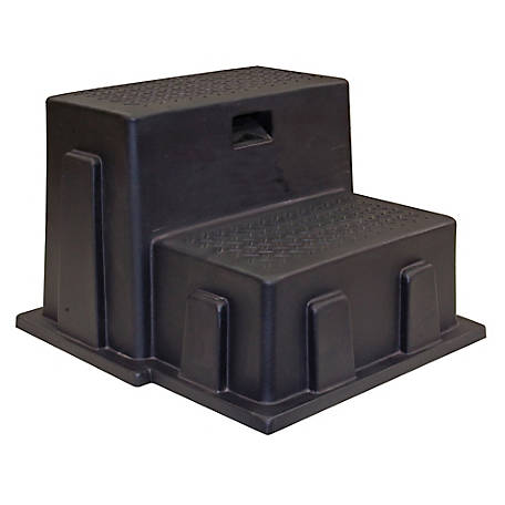 Buyers Products Black Polymer Utility Step, 24 x 21 x 16 in. Tall
