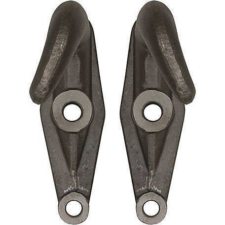 Buyers Products 2-Hole Plain Finish Drop-Forged Heavy-Duty Towing Hook Pairs