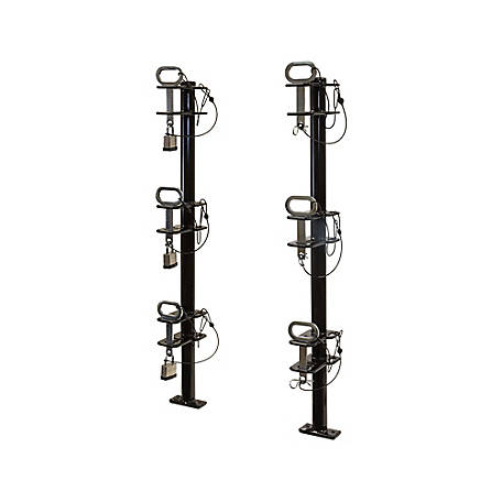 Buyers Products 3-Position Channel Style Lockable Trimmer Rack for Open Landscape Trailers