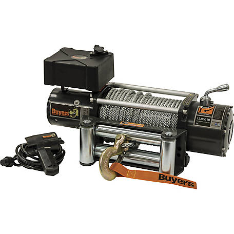 Buyers Products 12,000 Pound Electric Winch, 4.9 FPM, 294:1 Gear Ratio