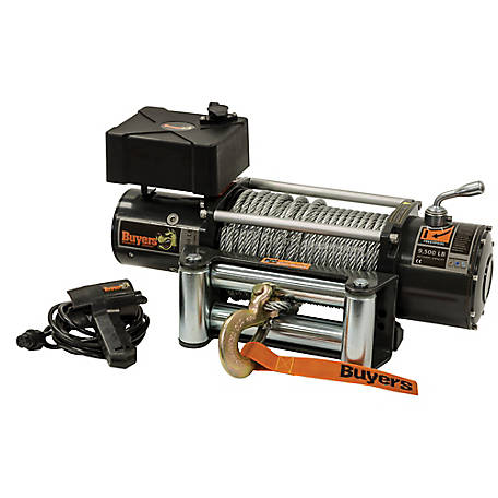 Buyers Products 9,500 Pound Electric Winch, 6.2 FPM, 210:1 Gear Ratio