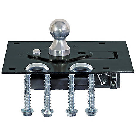 Buyers Products 2-5/16 in. Gooseneck Retractable Ball Hitch with U-Bolt Kit
