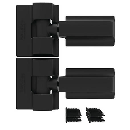 Boerboel Heavy-Duty Modern Wrap Hinge Pair, Black, Steel, 73014301