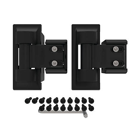 Boerboel Standard Wrap Hinge Pair, Black, Stainless Steel
