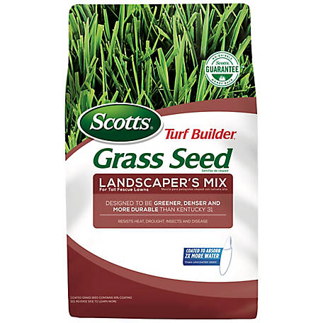 Scotts Turf Builder Grass Seed Landscapers Mix for Tall Fescue Lawns, 40 lb., 18347