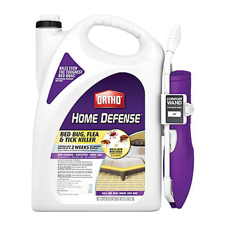 Ortho Home Defense Bed Bug, Flea and Tick Killer with Comfort Wand, 0.5 gal, 0202510